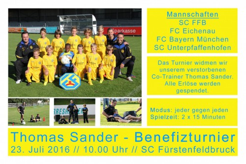 "U11 (D3) –  Benefizturnier ""Thomas Sander"" am 23.07.16"
